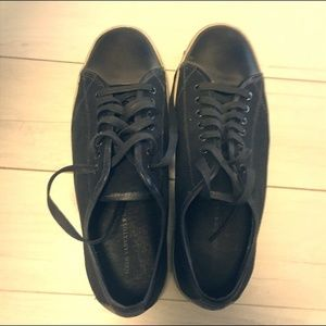John Varvatos USA Men Sneaker Leather + Canvas